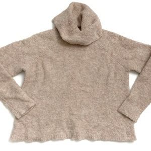 Madewell Mauve Wool Blend Turtleneck Sweater